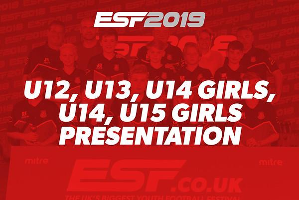 U12, U13, U14 GIRLS, U14, U15 GIRLS PRESENTATION