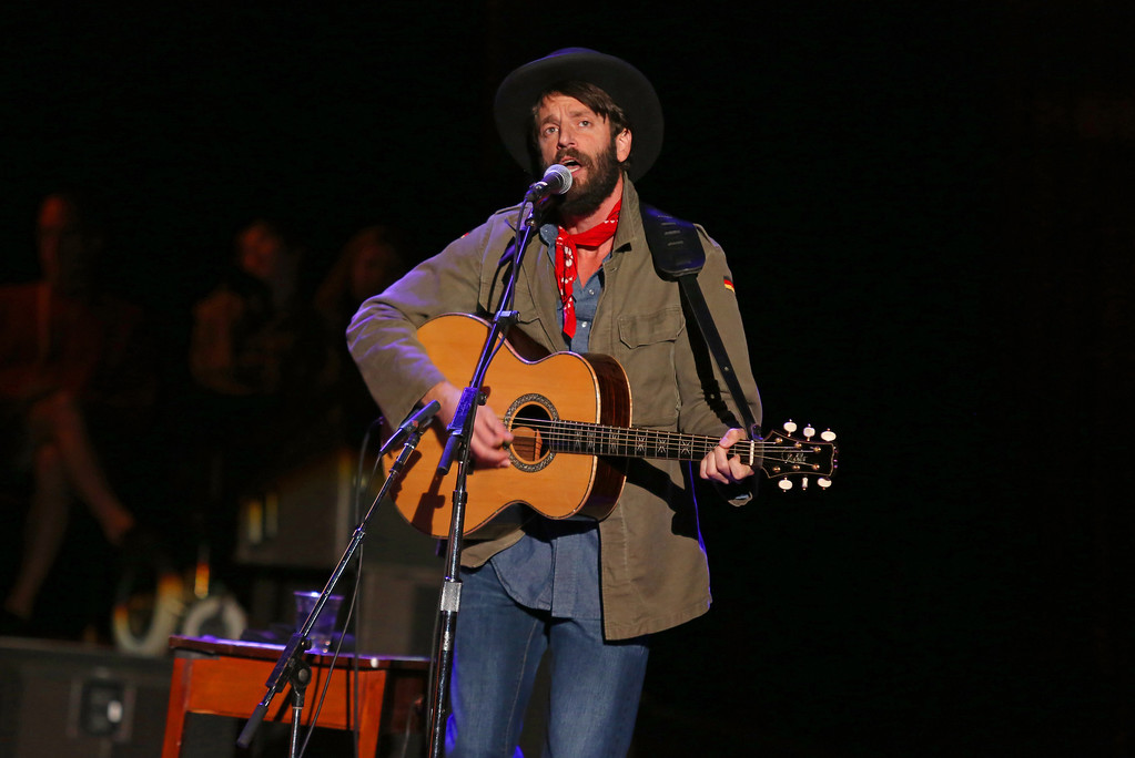 . Ray LaMontagne performing at the Bridge School Benefit Concert at the Shoreline Amphitheatre in Mountain View, Calif. LaMontagne performs June 30 at Jacobs Pavilion at Nautica. For more information, visit nauticaflats.com.   (Photo by Barry Brecheisen/Invision/AP)