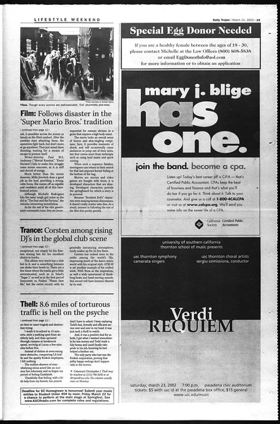 Daily Trojan, Vol. 145, No. 42, March 21, 2002