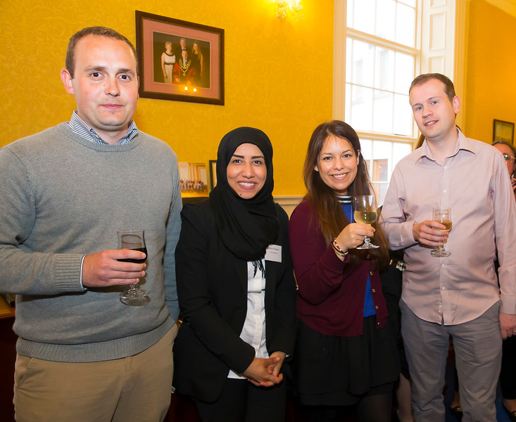 18/05/2016. Irish Accounting & Finance Accociation Annual Conference at WIT (Waterford Institute of Technology). Pictured at The Mayor's reception are Sean Power, Zahra Al Nasser, Cinthia Valle and Neil Dunne. Picture: Patrick Browne