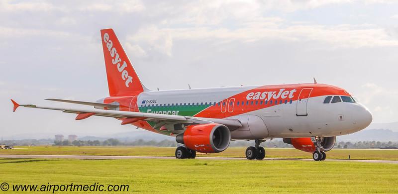 G-EZDL Airbus A319 easyJet @ Glasgow Airport (EGPF)