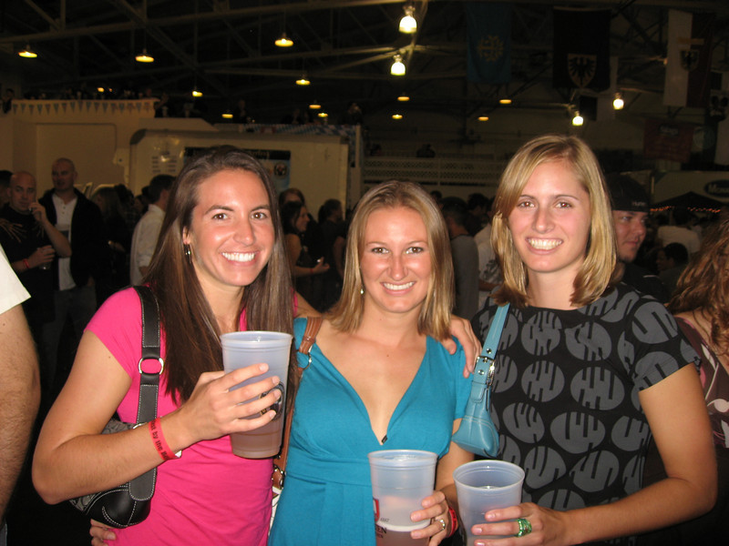 Kira, Julie and Stacy having fun at Oktoberfest by the Bay.