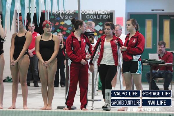 VHS vs. Portage Boys & Girls Swim & Dive Jan 2013