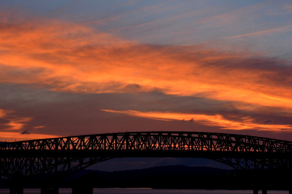 Sky over Newburgh Beacon Bridge NY