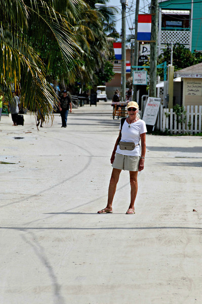 On the main drag, Caye Caulker.