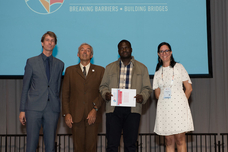 22nd International AIDS Conference (AIDS 2018) Amsterdam, Netherlands   Copyright: Marcus Rose/IAS  Photo shows: Lange/Van Tongeren Prizes (IAS/ANRS) for Young Investigators. Francis Matthew Simmonds