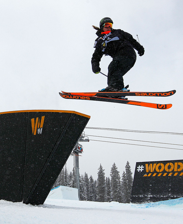 . Dara Howell of Canada competes during finals for the womens FIS Ski  Slopestyle World Cup at U.S. Snowboarding and Freeskiing Grand Prix on December 21, 2013 in Copper Mountain, Colorado.  (Photo by Mike Ehrmann/Getty Images)