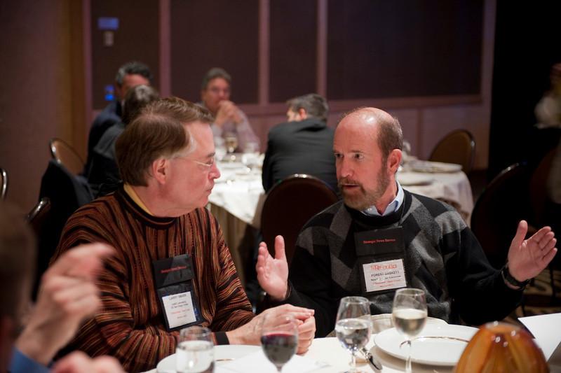 Larry Smarr (L), Director, Calit2 Laboratory, UC San Diego and Irvine; and Forest Baskett, General Partner, New Enterprise Associates