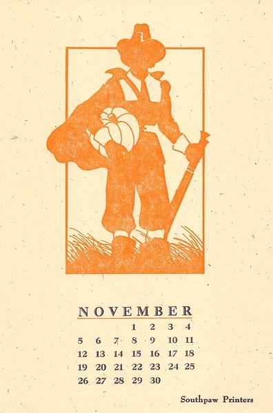November, 1989, Southpaw Printers