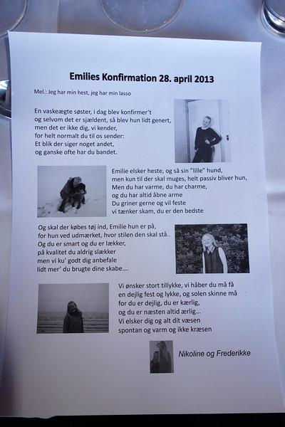 Emilies konfirmation 2013