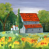 Country House. Original Oil On Canvas Painting  Fine Art Print from Oil On Canvas Painting Landscape Painting Art Oil On Canvas Wall Art