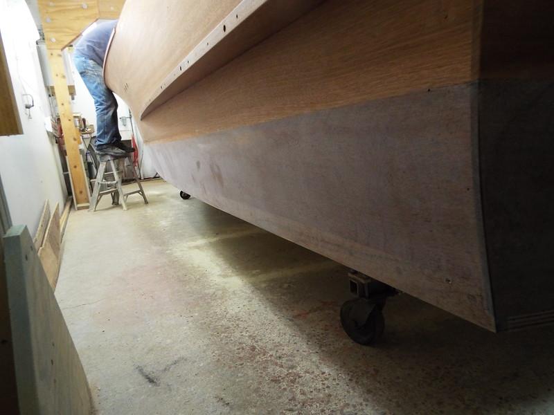 Port side epoxy sanded.