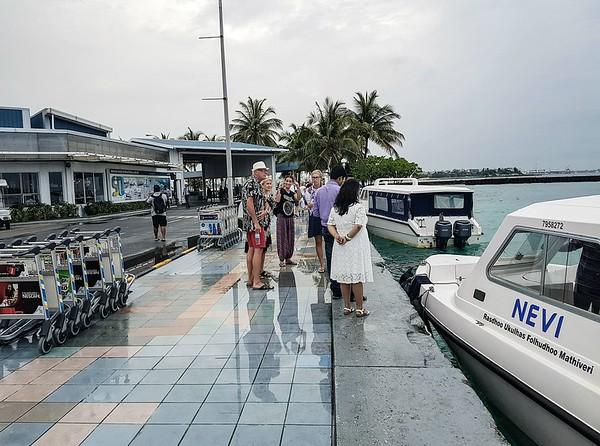 Maldives on a budget - airport speedboat