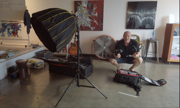 Professional Portrait Shoot - Behind the Scenes with Rafael Mc Master and the South Bay Artist Collective