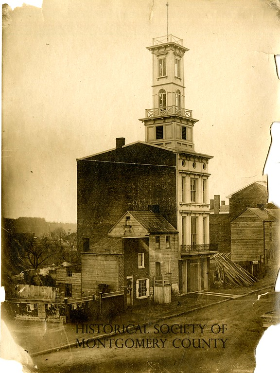 . This undated photo from the Historical Society of Montgomery County shows a building on West Airy Street.