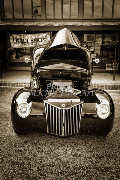1939 Ford Coupe Sedan Classic Car Front End in Sepia 3413.01