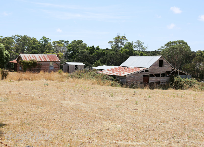 Old House and shed in recovery mode , West Tamer , Tasmania