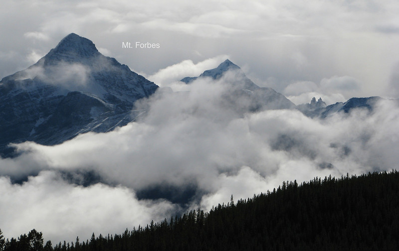 Mt. Forbes. 11,850 ft. 8th Highest in Canadian Rockies.