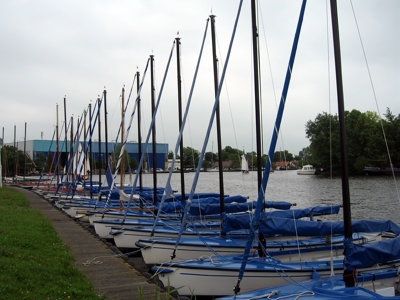 Boats in water maintained by the Rijnland District Water Control Board