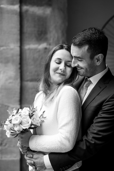 La Rici Photography - Intimate City Hall Wedding 123BW.jpg