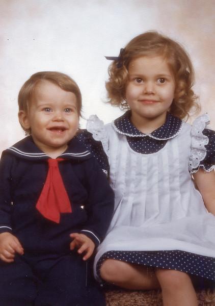 Kyle 1 year old and Kerri at 3 1/2