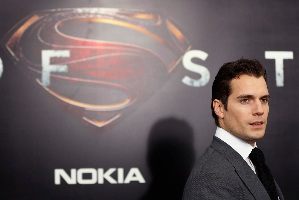 """. Cast member Henry Cavill arrives for the world premiere of the film \""""Man of Steel\"""" in New York June 10, 2013. REUTERS/Lucas Jackson"""