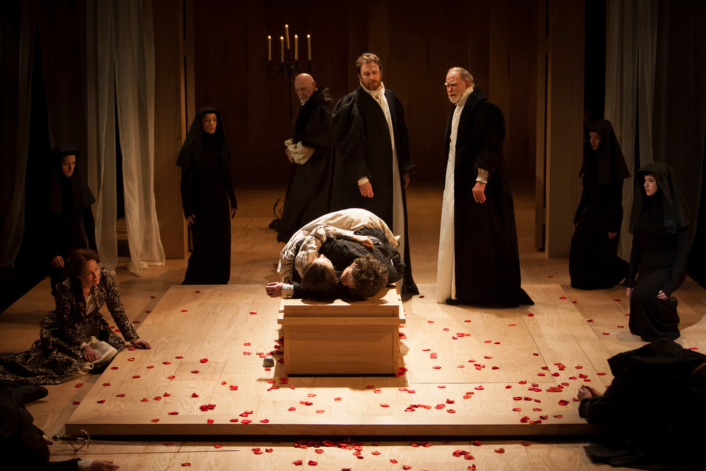 """. There may be no balcony\'s in the Denver Center production, but the tragedy remains unchanged in \""""Romeo & Juliet.\"""" Photo by Jennifer M. Koskinen, Provided by Denver Center Theatre Company."""