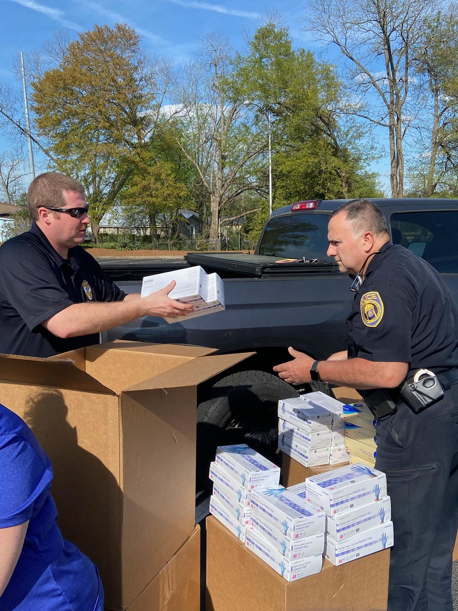 Public Safety delivered the aid to a staging area on Friday, March 27.