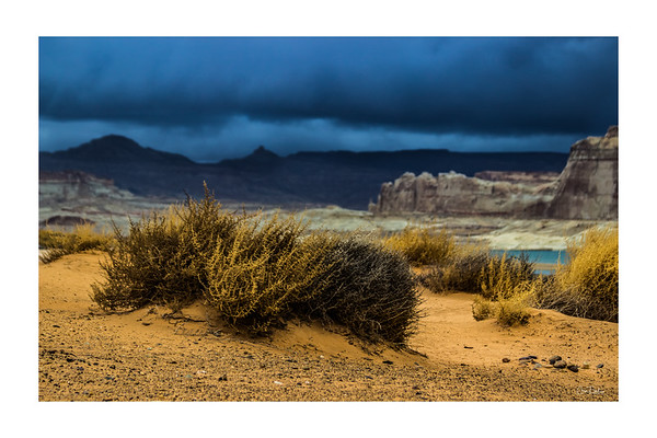 Storm at Lone Rock on Lake Powell in Glen Canyon National Recreation Area Arizona