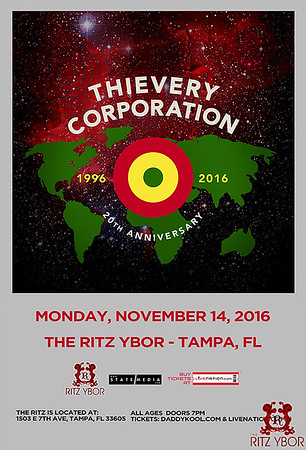 Thievery Corporation - Tampa - The RITZ Ybor
