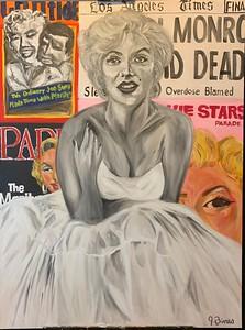 """""""It's all just make believe... isn't it? -Marilyn Monroe"""" (oil on canvas) by Jasmyn Bines"""
