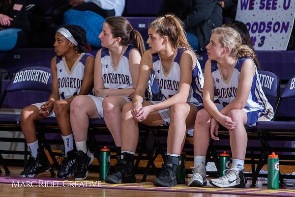 Broughton girls varsity basketball vs Millbrook. February 15, 2019. 750_7330