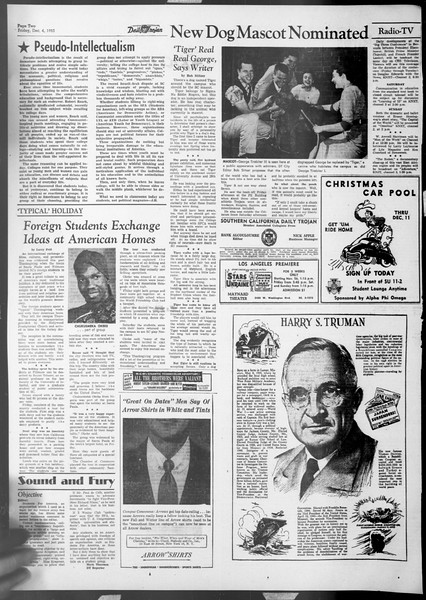 Daily Trojan, Vol. 45, No. 52, December 04, 1953