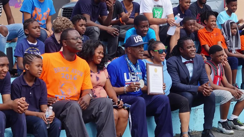 CC Minton interviews Olympic Boxing Coach Willie - Olympic Day Brick Avon Academy, Newark NJ