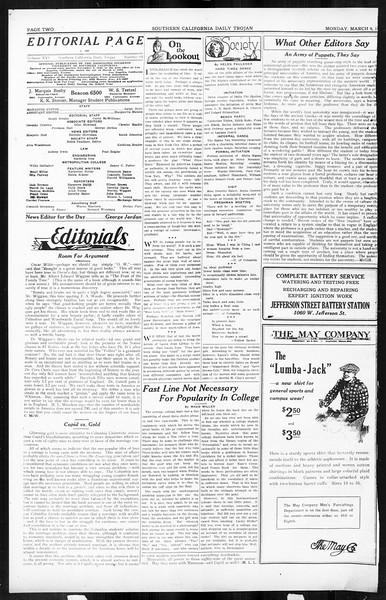 Daily Trojan, Vol. 16, No. 64, March 09, 1925