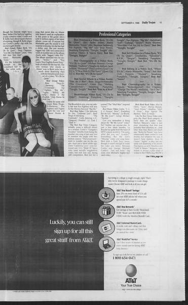 Daily Trojan, Vol. 129, No. 4, September 04, 1996