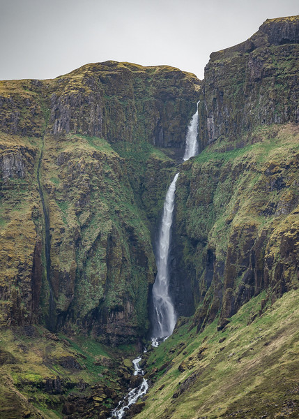 Carving Waterfall in Iceland   Photography by Wayne Heim