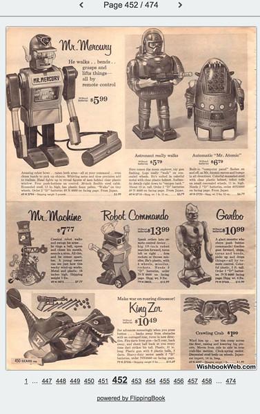 Stuart's Christmas Toys Early 1960's Sears Catalog
