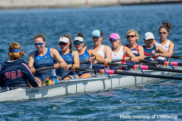2019 San Diego Crew Classic - National Team Alumnae Row