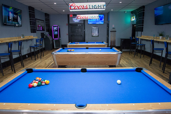 10/28/19 Wesley Bunnell | StaffrrSeveral pool tables inside of A Room with a Cue. A ribbon cutting was held for the grand opening of A Room with a Cue located at 174 Arch St on Monday afternoon.