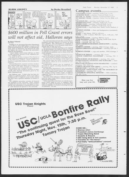 Daily Trojan, Vol. 97, No. 49, November 12, 1984