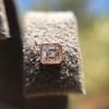 .52ctw Asscher Cut Diamond Bezel Stud Earrings, 18kt Rose Gold 22