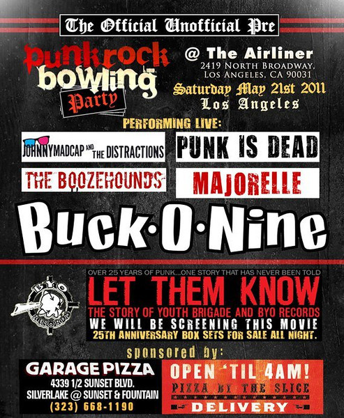 Punk Rock Bowling Kick off party with Buck-O-Nine, Johnny Madcap and the Distractions, The Booze Hounds, Punk Is Dead - Majorelle – at The Airliner Club – Los Angeles, CA - May 21, 2011
