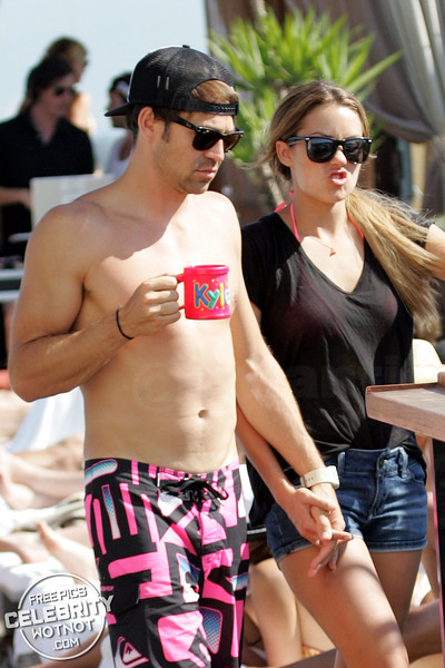 EXC: Lauren Conrad In Bikini Top With Boyfriend Kyle Howard At Pool Party