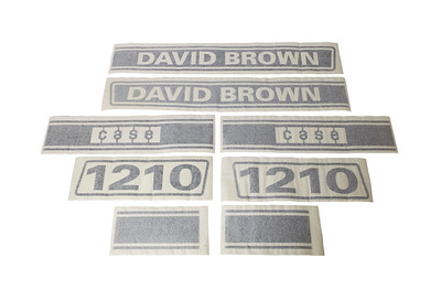 DAVID BROWN 1210 BONNET DECAL STICKERS K949210
