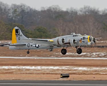 B-17 Liberty Belle at PDK Airport 2-14-2010