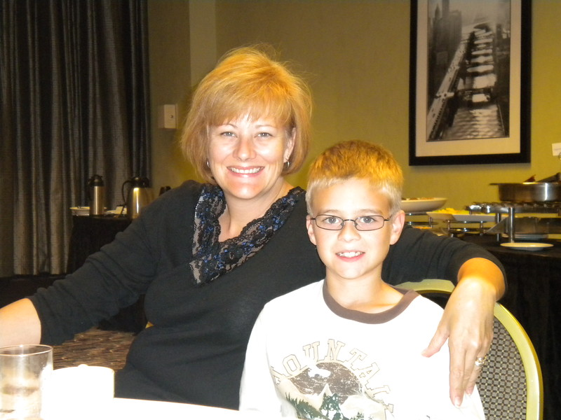 Spouse's Breakfast - Paige and Jack Akard (Wife and Son of President John Akard)