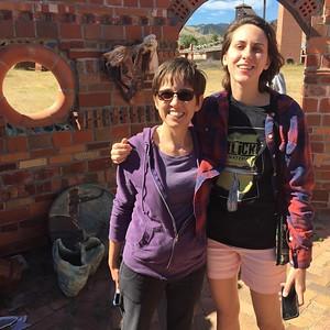 Silk and Rachel Handley on summer vacation 2016