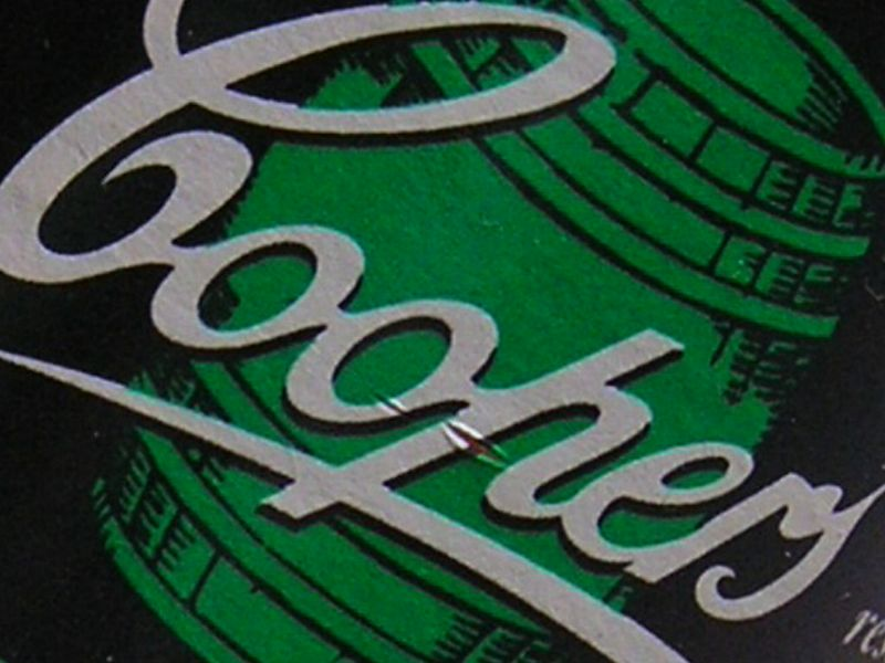 Part of the label of a Coopers Pale Ale. I used the cameras croping fucntion to get this.