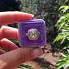 2.85ct Antique Cushion Cut Diamond Halo Ring 56